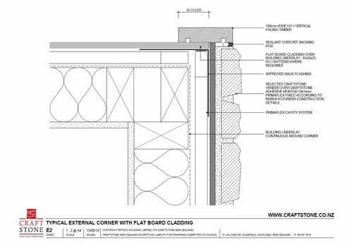 E2 External Corner - Flat Board Cladding-thumbnail