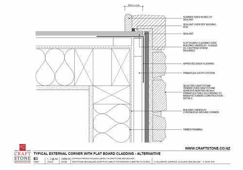 E3 External Corner - Flat Board Cladding (Alternative)-thumbnail